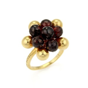 Marco Bicego Acapulco Garnet Beaded Cluster 18k Gold Ring