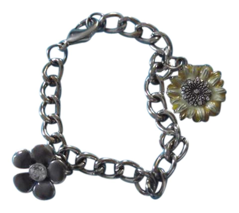 Purple Yellow Silver With Flower Charms Nwot Bracelet 39 Off Retail