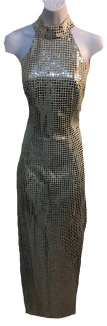 Preload https://item1.tradesy.com/images/roberta-silver-ball-gown-maxi-long-formal-dress-size-10-m-21630775-0-1.jpg?width=400&height=650