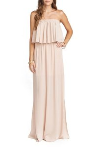 Show Me Your Mumu Dusty Blush Chiffon Hacienda Maxi Crisp Destination Bridesmaid/Mob Dress Size 16 (XL, Plus 0x)