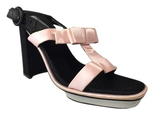 Prada Black/White/Pink Platforms