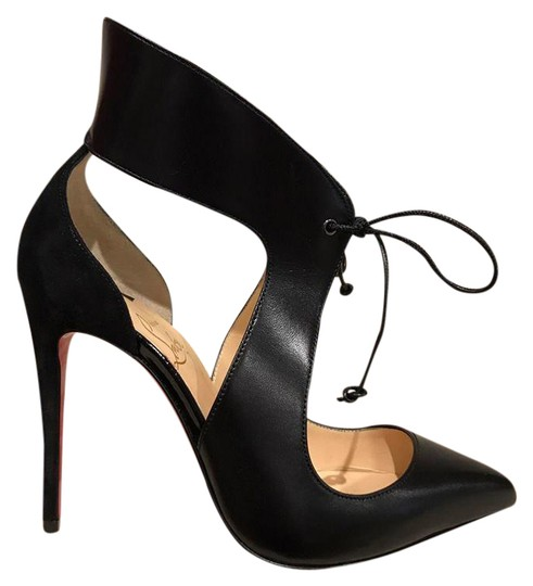 Preload https://img-static.tradesy.com/item/21630957/christian-louboutin-black-ferme-rouge-100-leather-lace-up-heel-35-pumps-size-us-5-regular-m-b-0-1-540-540.jpg
