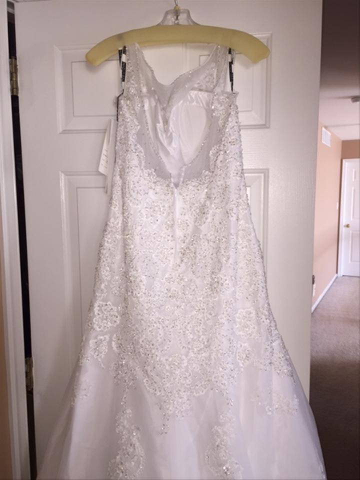 f9f02d0cd7 David Tutera for Mon Cheri White Style  214207 Aly Formal Wedding Dress  Size 12 (. 12345678910. 1 ∕ 10