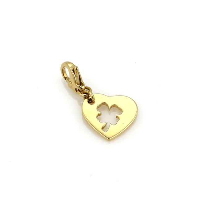 Item - Yellow Gold 20907 Clover Leaf Stencil Heart 18k Pendant Charm