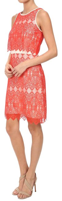 Preload https://item4.tradesy.com/images/kensie-red-and-white-lace-mid-length-cocktail-dress-size-8-m-21631118-0-1.jpg?width=400&height=650