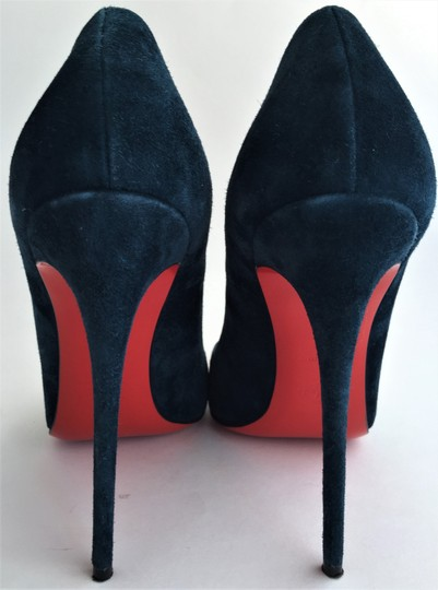 Christian Louboutin Thigh High Ankle Boots Spikes Studs Zanotti Navy Pumps