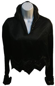 Preload https://item2.tradesy.com/images/blackgold-vintage-satin-half-shirt-night-out-top-size-2-xs-21631151-0-1.jpg?width=400&height=650