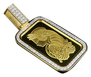 Other 24K Suisse Bar 1 OZ Yellow Gold Genuine Diamond 2 1/4 CT 2.5
