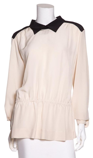 Preload https://img-static.tradesy.com/item/21631209/marni-beige-and-black-color-silk-blouse-size-10-m-0-1-650-650.jpg