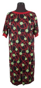 Céline short dress Black Red Green Pattern Cotton Chain Link on Tradesy
