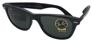 Ray-Ban New Ray-Ban Sunglasses RB 2140 901 54-18 WAYFARER Black Frame w/ Green