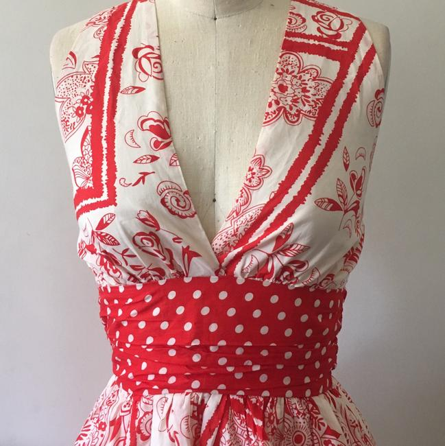 Lorraine B. short dress red and white on Tradesy