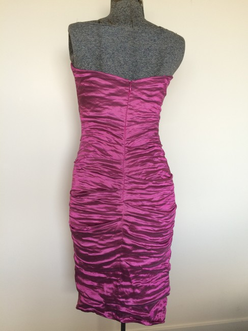 Nicole Miller Back Strapless Metallic Prom Party Dress
