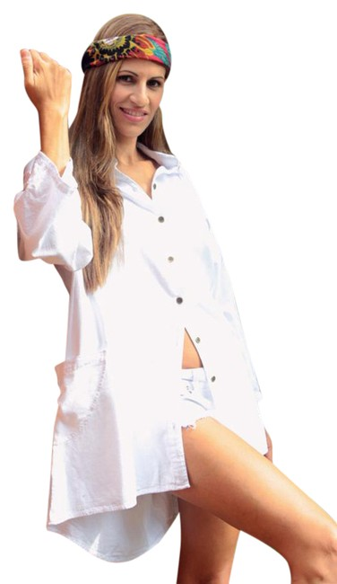 Preload https://item5.tradesy.com/images/lirome-white-low-high-organic-cotton-cute-kaymi-long-sleeve-country-tunic-size-26-plus-3x-21631449-0-1.jpg?width=400&height=650