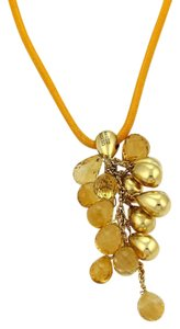 Marco Bicego Acapulco Citrine 18k Gold Bead Pendant on Orange Cord