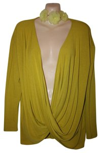 Cable & Gauge Soft Camisole Opened Front Without Bra Big Girl Top Lime green