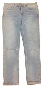 Zara Straight Leg Jeans-Light Wash