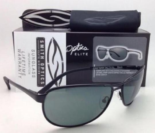 Smith Optics SMITH OPTICS Tactical Sunglasses GRAY MAN Black Aviator w/ ANSI Z87.1+