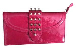 MCQ by Alexander McQueen Patent Wallet pink Clutch