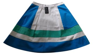 Magaschoni Summer Skirt blue/white/emerald