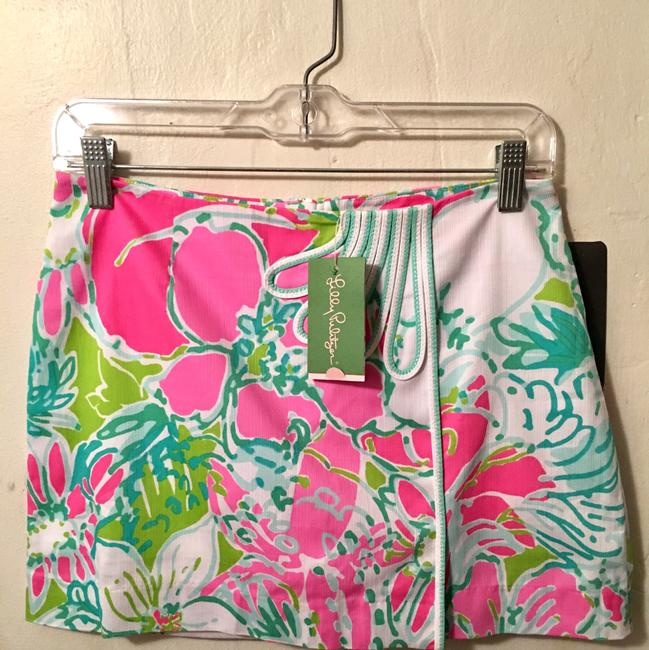 Lilly Pulitzer Mini Skirt Flamingo Pink