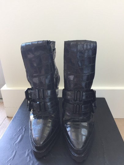Alexander Wang Crocodile Leather black Boots