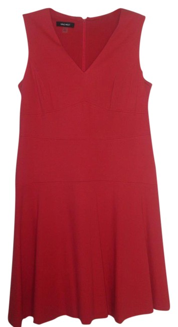 Nine West short dress Pink V-neck Flared Sleeveless on Tradesy