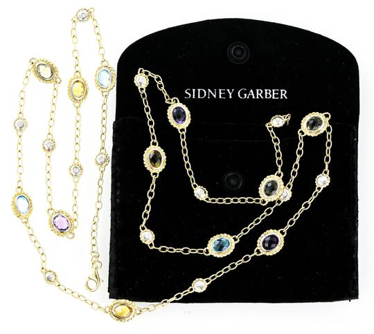 Sidney Garber * Sidney Garber Big Sky Multi Color Gemstone Gold Necklace