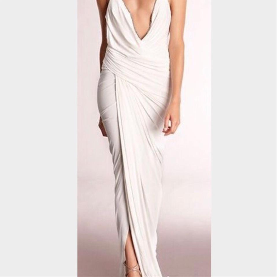 67857fed1a5 Donna Karan White Gown Sexy Wedding Dress Size 4 (S) Image 0 ...