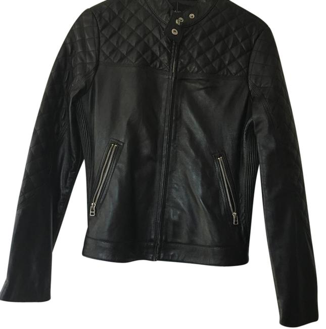 Moda International black Leather Jacket