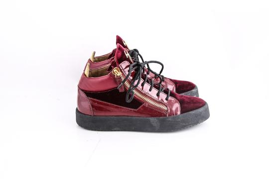Giuseppe Zanotti Double Zip High Top Sneakers Red Shoes