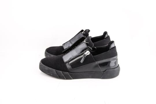 Giuseppe Zanotti Black Double Zip Sneakers Shoes