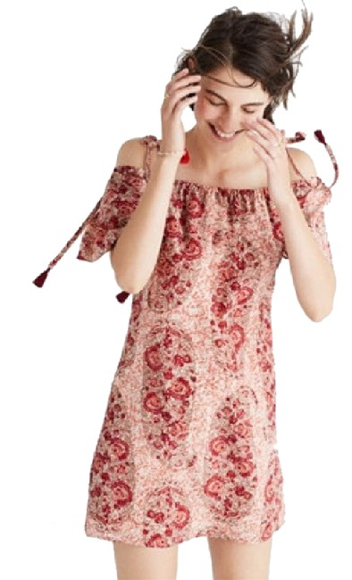 Preload https://img-static.tradesy.com/item/21631968/madewell-red-maroon-white-cream-silk-paisley-cold-shoulder-short-cocktail-dress-size-8-m-0-1-650-650.jpg