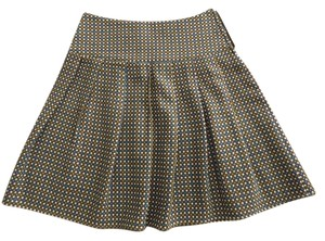 Lux 50s Fun Urban Outfitters Casual Skirt Multi: olive, blue, white, & brown tweed