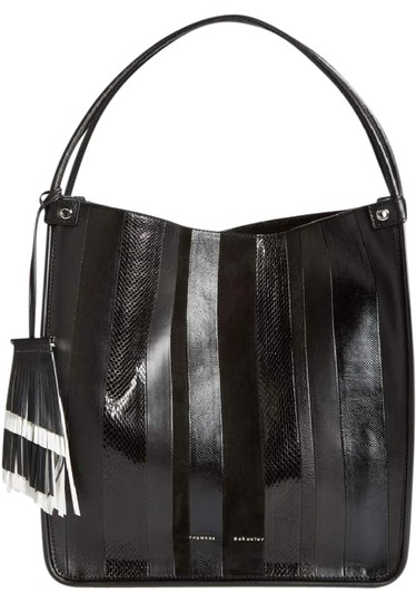 Preload https://img-static.tradesy.com/item/21632692/proenza-schouler-medium-stripe-black-exotic-genuine-snakeskin-suede-and-leather-tote-0-5-540-540.jpg
