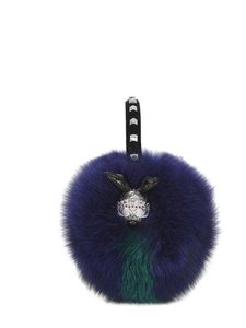 MCM NEW IN BOX MCM Blue Fur Studded Earmuffs LIMITED EDITION