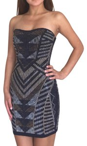 Trixxi Geometric Studded Formal Dress