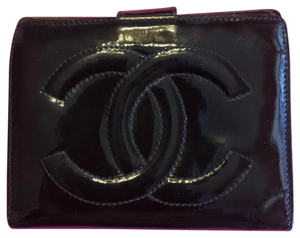 97cfc1e2768 Chanel Portefeuille Wallet Black Patent Leather Clutch - Tradesy