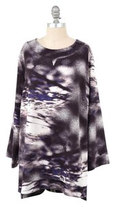 Anna Scholz Stretchy Abstract Bell Sleeve Mini Oversized Dress