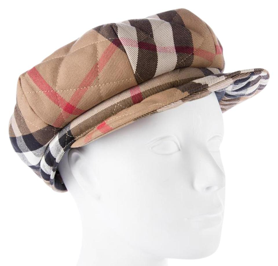 bcdd785e402 Burberry beige brown multicolor tan black supernova check beret hat jpg  960x919 Burberry print beret