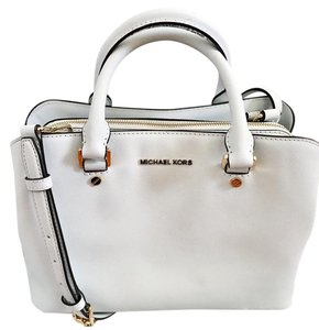 83508480a3fa Michael Kors Satchel in White