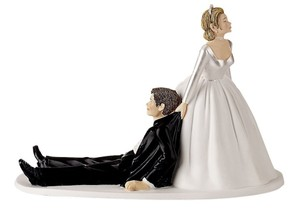 Humorous I Have You For Fun Newlyweds Cake Topper
