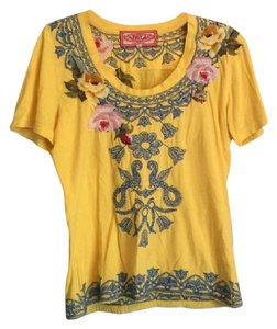 Yellow Johnny Was Tee Shirts - Up to 70% off a Tradesy a8e8908d3163