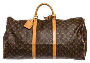 f2735b5807fc Louis Vuitton Brown Travel Bag. Louis Vuitton Duffle Keepall Monogram 60 Cm  Luggage Brown Canvas and Leather ...