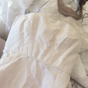 J.Crew Ivory Cotton Cady Lined In Silk Habotai Rare Rare Rare 'miranda' Modern Wedding Dress Size 8 (M)