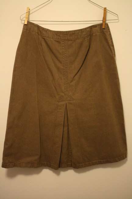H&M Cowgirl Country Cowboy A-line Dark Brown Damier Canvas Skirt Chocolate Brown