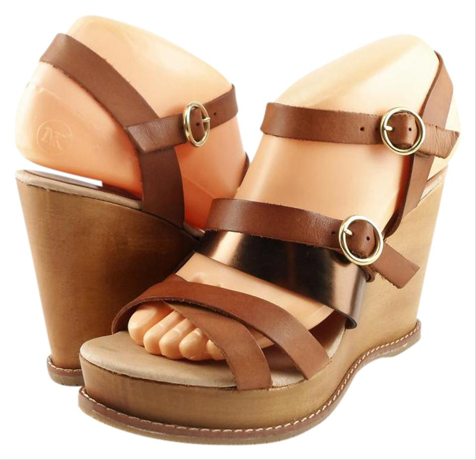 Andre Assous Bronze Jenny Wedge Leather Wedge Jenny Sandals e44700