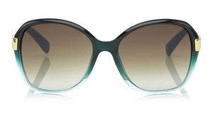 Jimmy Choo LIKE NEW JIMMY CHOO Alana Sunglasses Teal w/Swarovski Crystal Inserts