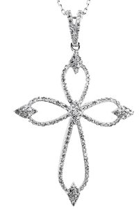 ABC Jewelry Fancy Diamond Cross Pendant