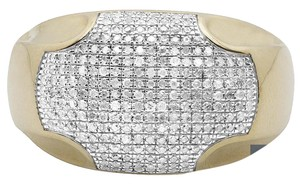 Jewelry Unlimited Men's Pave Iced Out Genuine Diamond Dome Puff Pinky Ring .70 ct